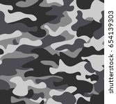 camouflage seamless pattern... | Shutterstock .eps vector #654139303