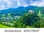aerial view of the castle... | Shutterstock . vector #654170047