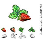 hand drawn vector illustration... | Shutterstock .eps vector #654181783
