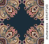 abstract seamless paisley... | Shutterstock .eps vector #654197143