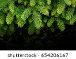 background of christmas tree ... | Shutterstock . vector #654206167