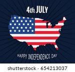 usa map flag | Shutterstock .eps vector #654213037