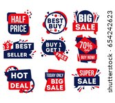 sale and discount badge set... | Shutterstock .eps vector #654242623