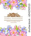 vintage delicate invitation... | Shutterstock .eps vector #654250513