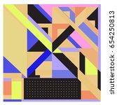 trendy geometric elements...   Shutterstock .eps vector #654250813