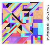 trendy geometric elements...   Shutterstock .eps vector #654257473