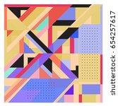 trendy geometric elements...   Shutterstock .eps vector #654257617
