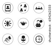set of 9 editable job icons....