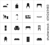 set of 16 editable interior...