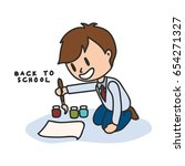 back to school cartoon... | Shutterstock .eps vector #654271327