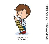 back to school cartoon... | Shutterstock .eps vector #654271333