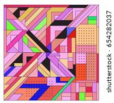 trendy geometric elements...   Shutterstock .eps vector #654282037