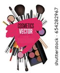 cosmetics products  fashion... | Shutterstock .eps vector #654282967