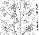 bamboo seamless pattern on...   Shutterstock .eps vector #654290677