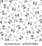 chinese calligraphy ink... | Shutterstock . vector #654297883
