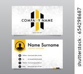modern business card design... | Shutterstock .eps vector #654298687