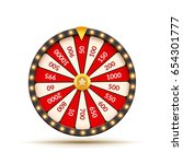 wheel of fortune lottery luck... | Shutterstock .eps vector #654301777
