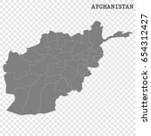 high quality map of afghanistan ... | Shutterstock .eps vector #654312427