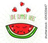 love summer vibes lettering... | Shutterstock .eps vector #654320647
