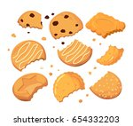 traces from stings on the... | Shutterstock .eps vector #654332203