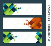 abstract header or banner set...