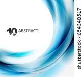 smooth wave template. abstract... | Shutterstock .eps vector #654348517