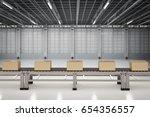 3d rendering carton boxes on... | Shutterstock . vector #654356557