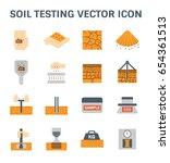 vector icon of soil and soil... | Shutterstock .eps vector #654361513