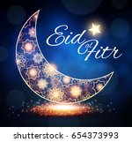 eid al fitr. islamic holiday.... | Shutterstock .eps vector #654373993