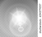 sunlight special lens flare... | Shutterstock .eps vector #654379357