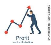 profit concept  growing... | Shutterstock .eps vector #654388567