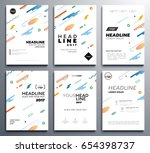 presentation booklet covers  ... | Shutterstock .eps vector #654398737