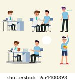 doctor and patient character... | Shutterstock .eps vector #654400393