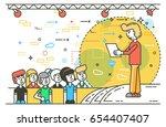 vector illustration orator... | Shutterstock .eps vector #654407407