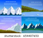 mountain landscapes set.... | Shutterstock .eps vector #654407653