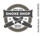 smoke shop vintage isolated... | Shutterstock .eps vector #654418003