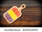 concept of romanian cuisine.... | Shutterstock . vector #654423493
