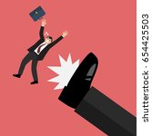 businessman kicked by his boss...   Shutterstock .eps vector #654425503