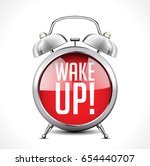 alarm clock concept   wake up | Shutterstock .eps vector #654440707