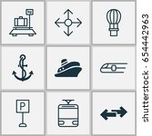 shipping icons set. collection... | Shutterstock .eps vector #654442963