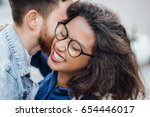 close up portrait of laughing...   Shutterstock . vector #654446017