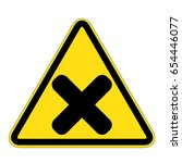 attention icon danger button...   Shutterstock .eps vector #654446077