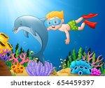 vector illustration of cartoon... | Shutterstock .eps vector #654459397