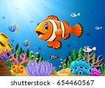 vector illustration of cute... | Shutterstock .eps vector #654460567