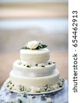 beautiful wedding cake  close... | Shutterstock . vector #654462913