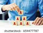human resources and business... | Shutterstock . vector #654477787