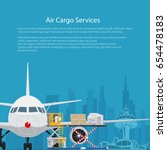 poster air cargo services and... | Shutterstock .eps vector #654478183
