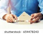 mortgage concept   Shutterstock . vector #654478243