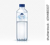 mineral water bottle package... | Shutterstock .eps vector #654480337
