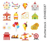 vector flat style set of... | Shutterstock .eps vector #654483187